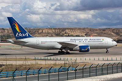 N234AX. Boeing 767-224/ER. Boliviana de Aviacion - BoA. Madrid. 121014.