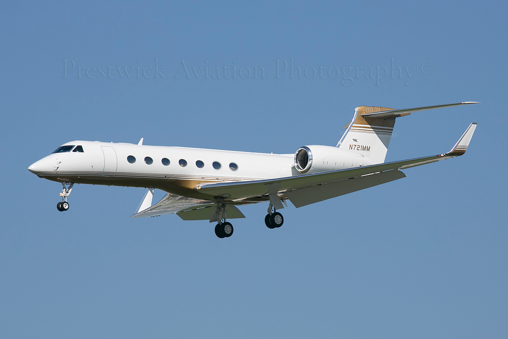 N721MM. Gulfstream Aerospace Gulfstream V. Private. 110213.