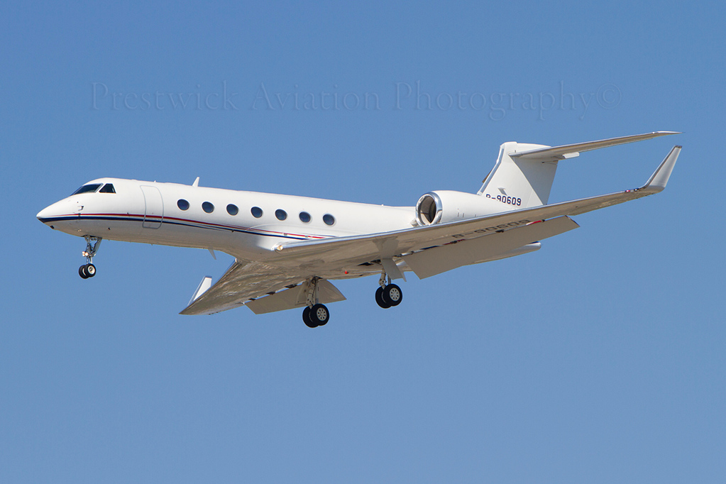 B-90609. Gulfstream Aerospace G-V-SP. Private. Los Angeles. 150912.