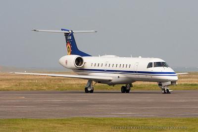 CE-02. Embraer EMB-135LR. Belgium Air Component. Benbecula. 120914.