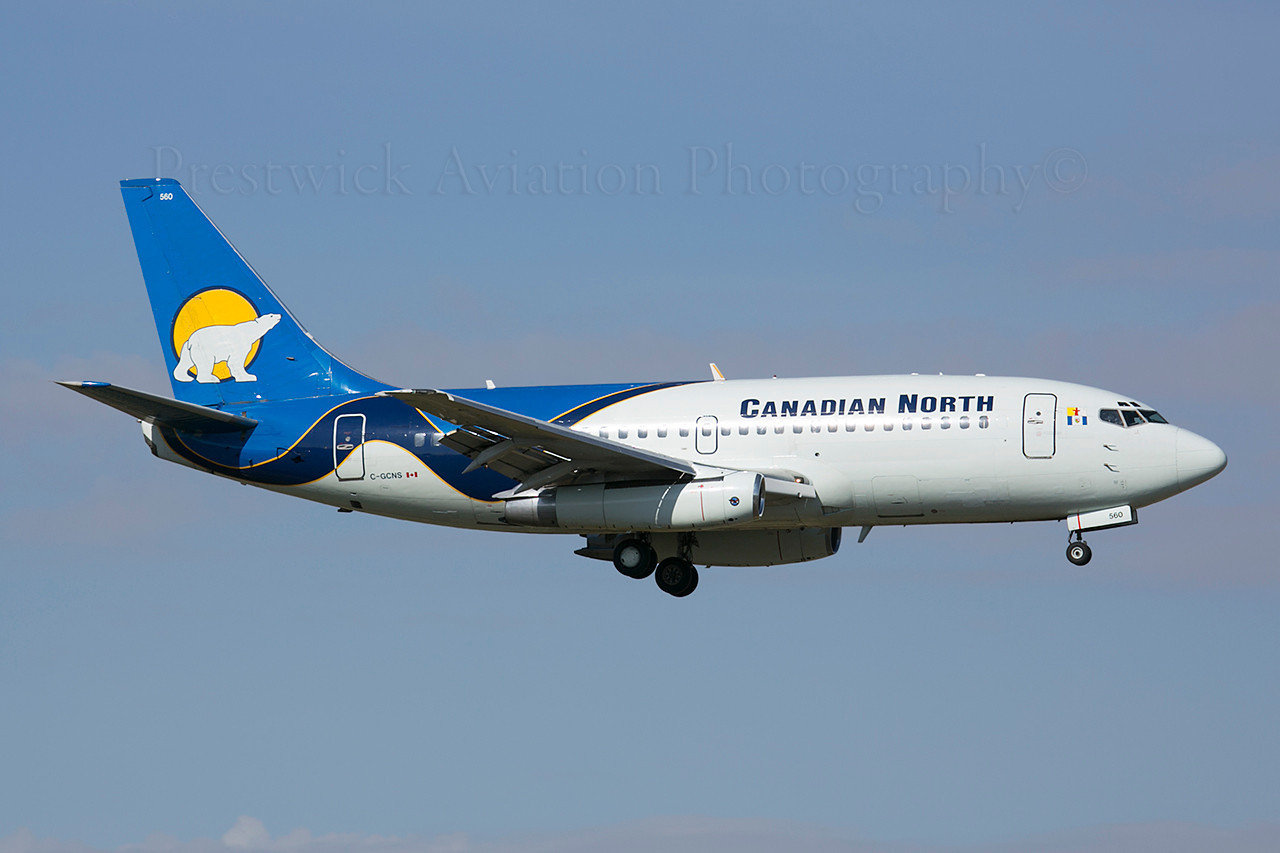 C-GCNS. Boeing 737-275. Canadian North. Calgary. 130514.<br /> <br /> Originally delivered in 1985 to Pacific Western.