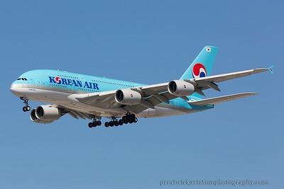 HL7628. Airbus A380-861. Korean Air. Los Angeles. 210914.