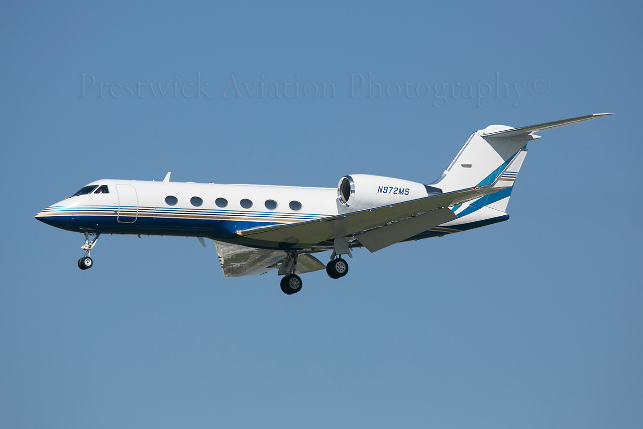 N972MS. Gulfstream Aerospace Gulfstream IV. Private. Los Angeles. 110213.