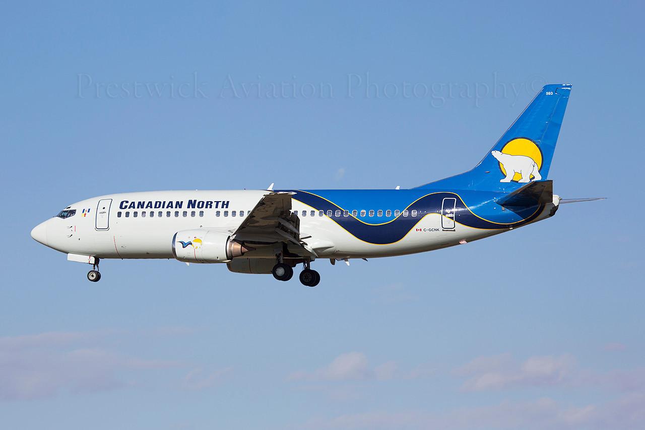 C-GCNK. Boeing 737-36Q. Canadian North. Calgary. 070514.
