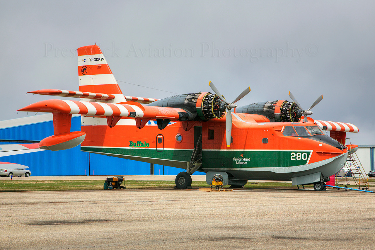 C-GKDW. Canadair CL-215. Buffalo Airways. Red Deer. 080514.