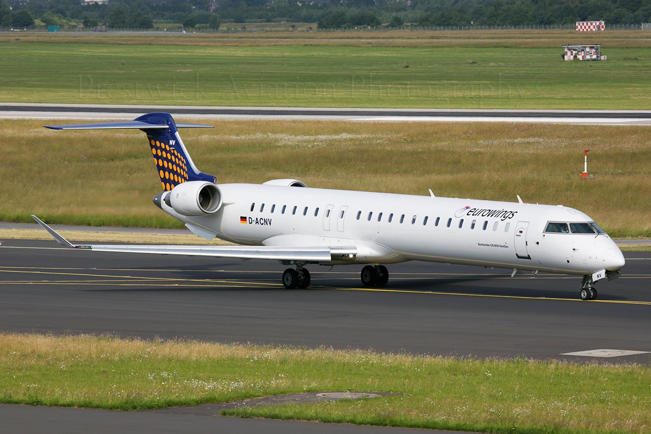 D-ACNV. Canadair CL-600-2D24 Regional Jet CRJ-900. Eurowings. Dusseldorf. 300613.