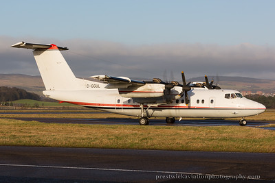 C-GGUL. De Havilland Canada DHC-7-102 Dash 7. Voyager Airlines. Glasgow. 301214.
