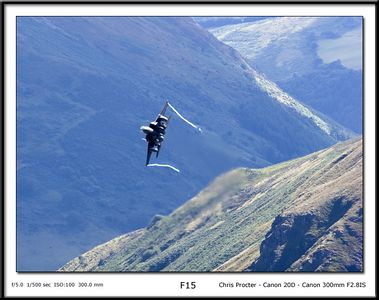 US F15 sweepimg the through the Velleys of the UK