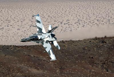 USA - Navy   McDonnell Douglas F/A-18A Hornet  MSN: 0570/A477 Reg.: 163148 Code: AF-06  California,  USA  Taken: November 3, 2016     AMBUSH! Aggressor squadron VFC-12 Fighting Omars is melting the rocks in the narrow canyon.