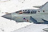 Back seater giving a nice wave as ZG713 fly's through the mach loop on a snowy January day