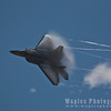 F22 with Low Pressure Clouds/Contrails