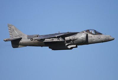 "USA - Marines McDonnell Douglas AV-8B Harrier II  Yuma Intl. (YUM / KYUM) USA - Arizona, November 19 2013  163868 / CF-25 (cn 176) VMA-211 ""Wake Island Avengers"""