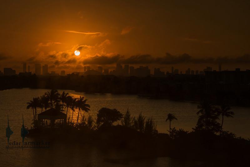 Sun rise in Miami