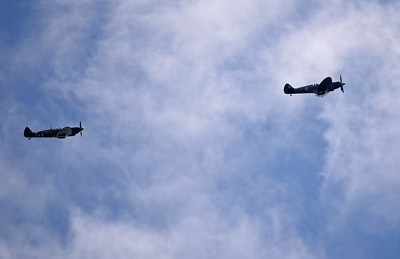Two Spitfires from the Battle of Britain Memorial Flight