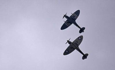 Two Spitfires of the Battle of Britain Memorial Flight