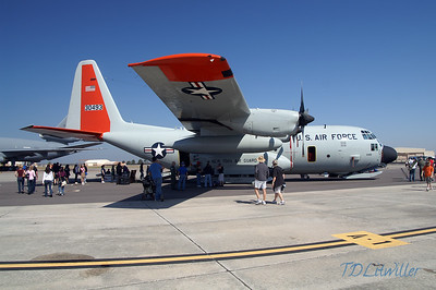 MacDill 2010  New York Air Guard LC-130.  This aircraft has tires for landing on normal runways and snow skis for landing on snow and ice.  It is used to supply the research center on Antarctica.