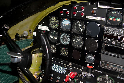 The left side of the panel of the B-25, Maid in the Shade