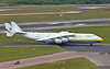 Tight turn from Bravo Delta onto taxiway bravo, behind the follow me vehicle.