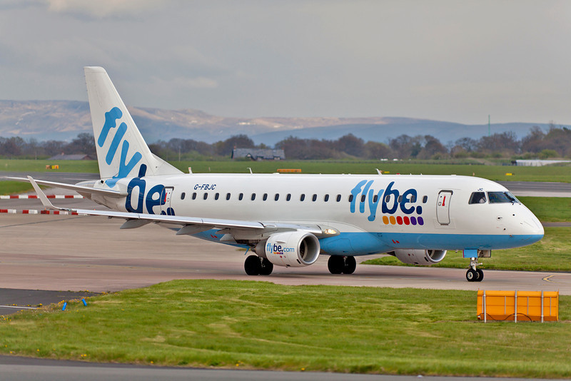 One if the Flybe fleet of 'E' jets.