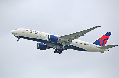 N710DN, Delta airlines, 777, Manchester UK