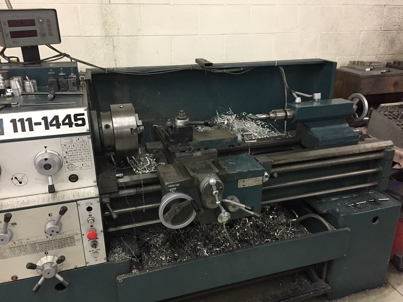 Another lathe with some more manual controls.