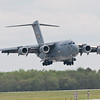 USAF C-17 landing at McGuire AFB, NJ