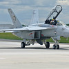 "Navy F/A-18 F Super Hornet from VFA-106 ""GLADIATORS"" taxiing"