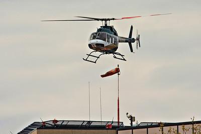 Mercy Air Med launching from the University of Iowa hospital helipad.