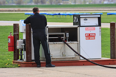 Self Service Jet Fuel  Mercy Air Med Pilot at the Iowa City Airport