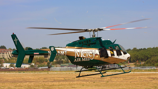 Mercy Air Med departing from the Iowa City Municipal Airport  Pilot Al Kersbergen
