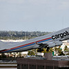 Cargolux B747 taking off at Miami International (KMIA)