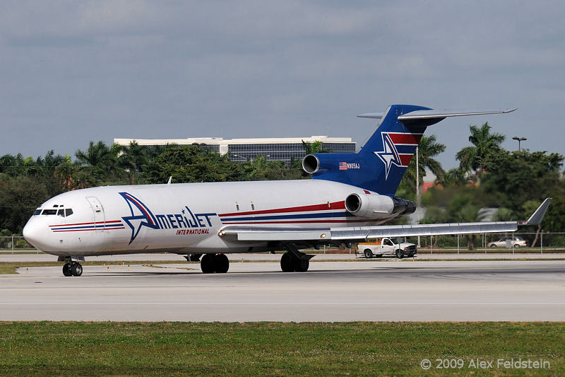 Amerijet Boeing 727 waiting for takeoff