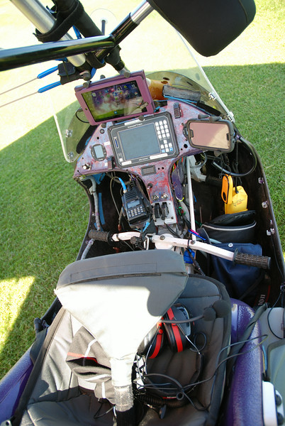 The electronics in the trike, navigation and radio equipment