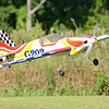 A remote controlled plane takes off for flight at Vietnam Veterans Park in Billerica on Sunday afternoon. The planes were being flown by members of the Middlesex County R/C Flyers Club. (SUN/Ashley Green)