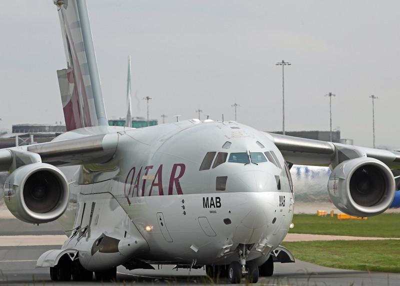 A7-MAB Boeing C-17 Globemaster III (Manchester Airport) Qatar Emiri Air Force [2]