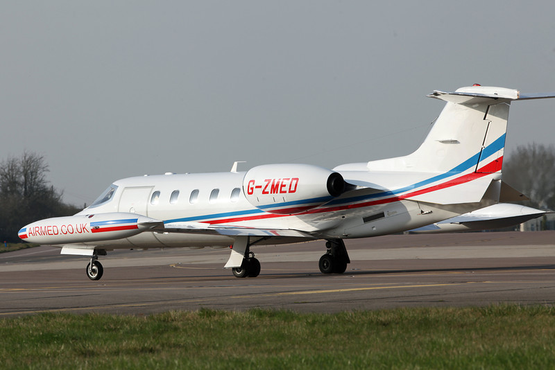 G-ZMED Learjet 35A (RAF Brize Norton) Air Medical Ltd