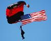 Military Parachute Teams - USASOC Black Daggers - Prairie Air Show - Peoria, Illinois - Photo Taken: July 24, 2010
