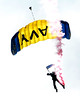 Military Parachute Teams - US Navy Leap Frogs - Chicago Air & Water Show - Chicago, Illinois - Photo Taken: August 21, 2011