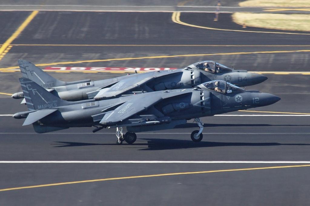 US Marines Boeing AV-8B(R) Harrier II+ 165398 (cn 288)  -  165385 / CF-12 (cn 280)