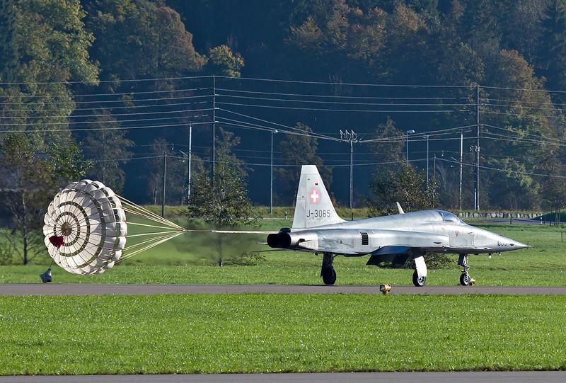 J-3065 with shute deployed