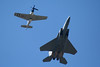 Heritage Flight.  F-15 Eagle & P-51 Mustang.