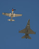 USA 2009 - MCAS Miramar Air Show - US Air Force Heritage Flight (P-51 Mustang & F16 Falcon)