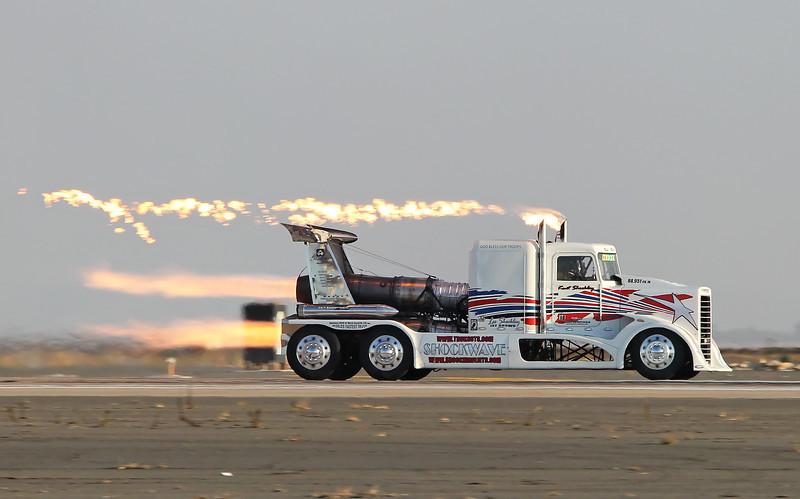 "USA 2011 - MCAS Miramar Air Show - Twilight Show<br /> Shockley's ""Shockwave"" Jet Truck"