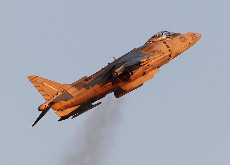 USA 2011 - MCAS Miramar Air Show - Twilight Show<br /> AV-8B Harrier - Vertical Take-Off and Landing (VTOL)
