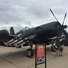 F-4U Corsair from the Flying Leatherneck Museum that is on the base.