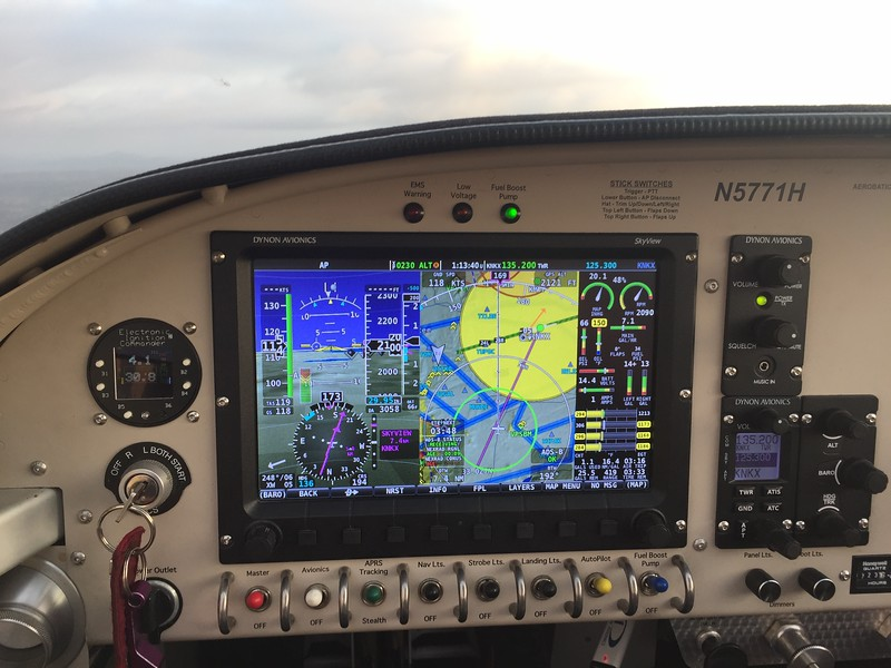 Approaching the TFR and Class Bravo that sits atop Miramar.