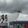 Helicopter fire fighting demonstrations.