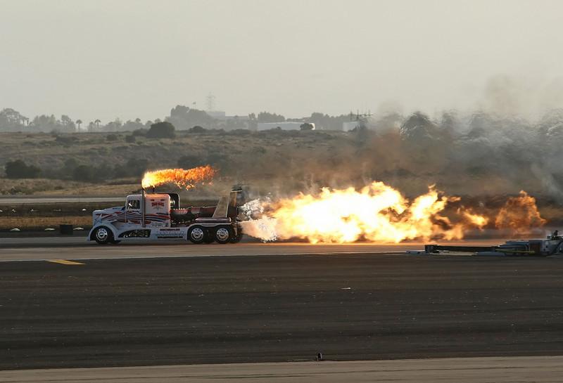 USA 2009 - MCAS Miramar Air Show - Twilight Show - Shockley's Shockwave Jet Truck