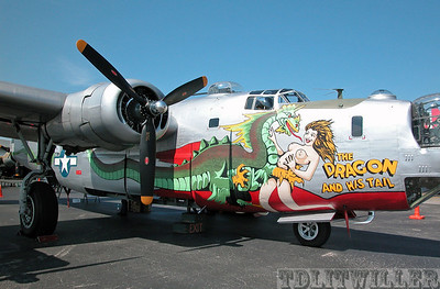 "Collings Foundation's B-24 painted as ""The Dragon and His Tail"""