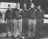 Crew No. 9 (Plane #40-2203, target Tokyo): 34th Bombardment Squadron, Lt. Harold F. Watson, pilot; Lt. James N. Parker Jr., copilot; Lt. Thomas C. Griffin, navigator; Sgt. Wayne M. Bissell, bombardier; TSgt. Eldred V. Scott, flight engineer/gunner. (U.S. Air Force photo)